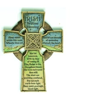 IRISH BEDTIME BLESSING WALL CROSS BOXED