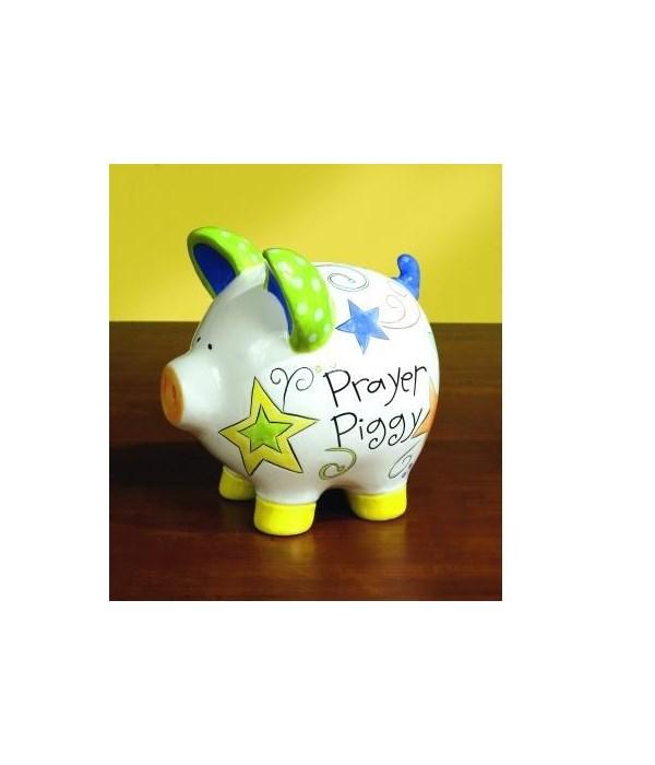 PRAYER PIGGY BANK W/CARD BOXED