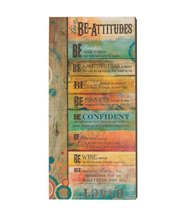 TEEN BE-ATTITUDES WALL PLAQUE TISSUE WRAPPED & BOXED