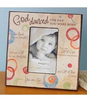 GOD DANCED FRAME W/EASEL & HANGER BOXED
