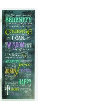 7 1/2x20 SERENITY WALL PLAQUE W/HANGER BOXED