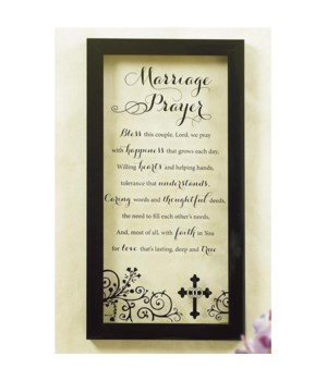 MARRIAGE PRAYER WALL PLAQUE BOXED