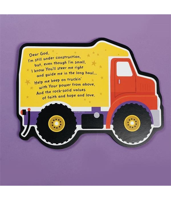 UNDER CONSTRUCTION TRUCK WALL PLAQUE INDIVIDUALLY BAG