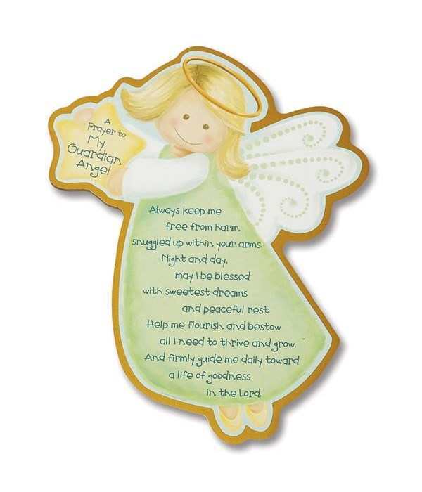 PRAYER TO MY GUARD ANGEL WALL PLAQUE INDIVIDUALLY BAGGED