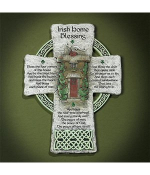 IRISH HOME BLESSING CROSS BOXED