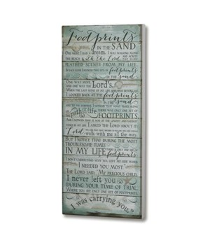 FOOTPRINTS 10 in.  x22 in.   WALL PLAQUE INDIVIDUALLY BAGGED