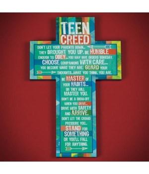TEEN CREED WALL CROSS BOXED