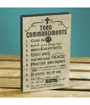 TEEN COMMANDMENTS WALL PLAQUE BOXED