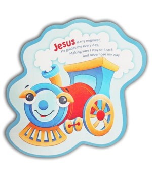 JESUS IS MY ENGINEER TRAIN WALL PLAQUE INDIV BAGGED