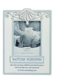 BLUE BAPTISM BLESSINGS FRAME BOXED