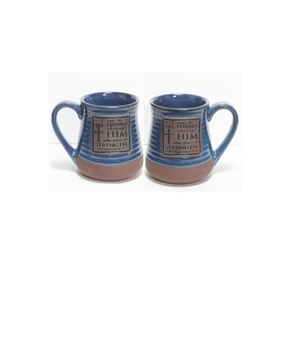 CAN DO ALL THINGS POTTERY MUG BOXED