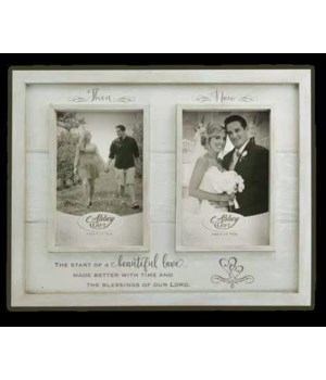 THEN & NOW ANNIV WOOD FRAME BOXED
