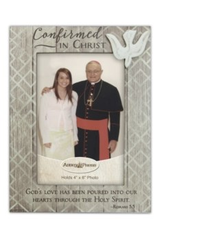 CONFIRMATION WOOD FRAME W/ EASEL BOXED