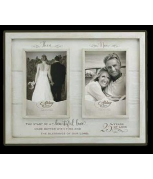THEN & NOW 25TH ANNIV WOOD FRAME BOXED