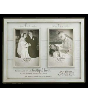 THEN & NOW 50TH ANNIV WOOD FRAME BOXED