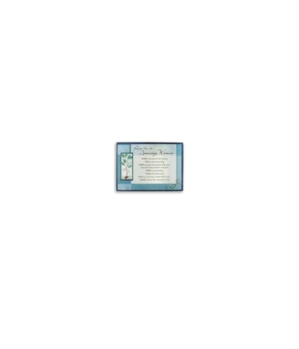 BLUE AMAZING WOMAN CUTTING BOARD BOXED W/CARD
