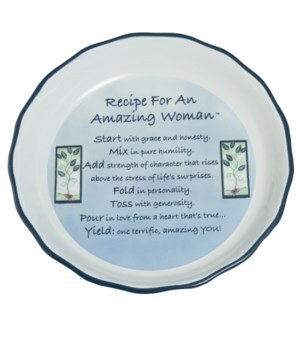AMAZING WOMAN BLUE PIE PLATE BOXED W/CARD