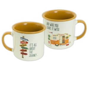 ALL ABOUT THE JOURNEY CAMPING MUG BOXED