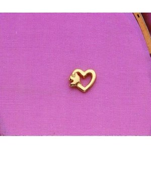 GOLD GODMOTHER HEART/DOVE PIN CARDED INDIVIDUALLY BAG