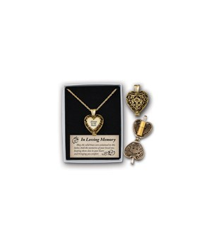 AG ALWAYS IN MY HEART LOCKET W/ASH HOLDER ON 24 in.   CHAIN