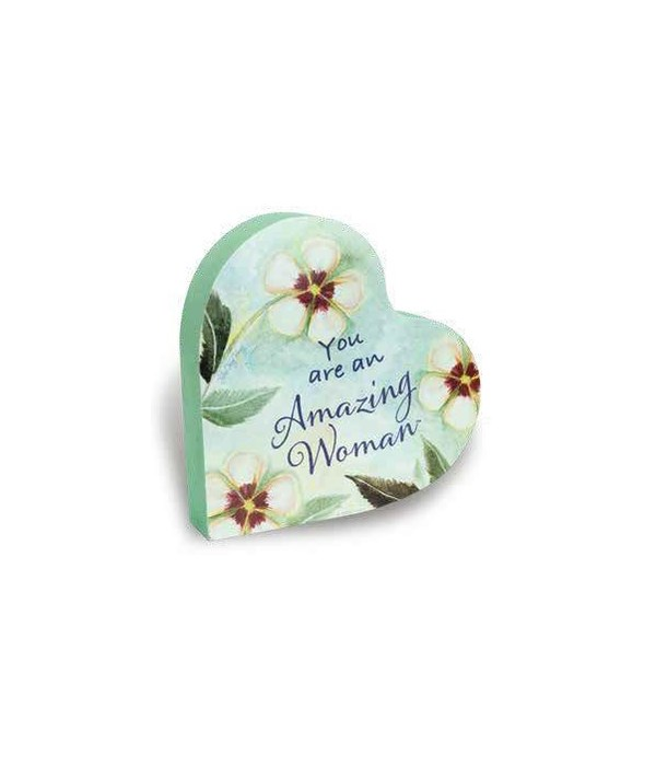 AMAZING WOMAN 2 SIDED FLORAL HEART BLOCK INDIVIDUALLY BAG