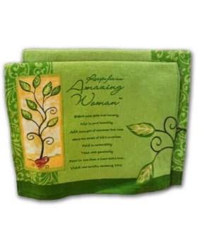GREEN AMAZING WOMAN KITCHEN TOWEL INDIVIDUALLY BAG