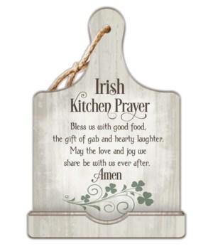 IRISH KITCHEN PRAYER COOK BOOK HOLDER W/CORD BOXED