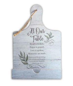 AT OUR TABLE COOK BOOK HOLDER W/CORD BOXED