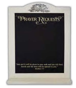PRAYER REQUESTS CHALKBOARD VERTICAL WALL PLAQUE BOXED