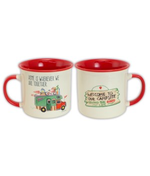 HOME IS WHEREVER CAMPING MUG BOXED