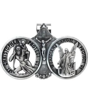 BF DBL ST.CHRIS/ANGEL VISOR CLIP CARDED INDIV BAG