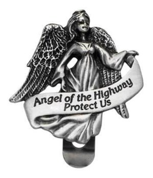 BF ANGEL OF THE HWY VISOR CLIP CARDED INDIV BAG