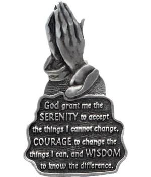 BF PRAYING HANDS SERENITY VISR CLIP CARDED  INDIV BAG