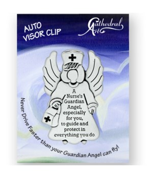 SILV OX NURSE'S GUARDIAN ANGEL VISOR CLIP CARDED INDIV BAG