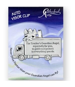 SILVR OX TRUCKER'S GUARD ANGEL VISOR CLIP CARDED INDIV BAG
