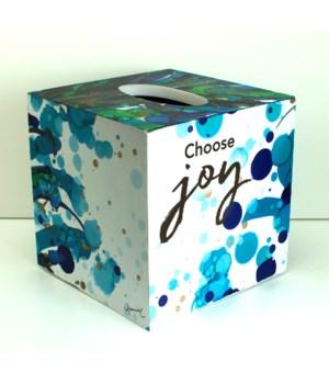 CHOOSE JOY TISSUE BOX HOLDER BOXED