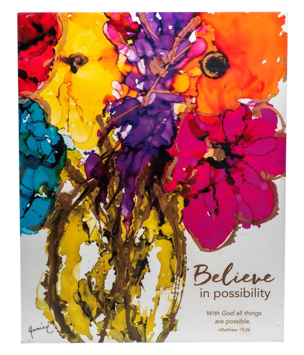 BELIEVE IN POSSIBILITY WALL PLAQUE W/HANGER BOXED