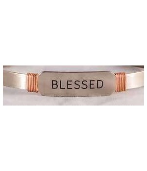 NS BLESSED CUFF W/COPPER WIRE GIFT BOXED