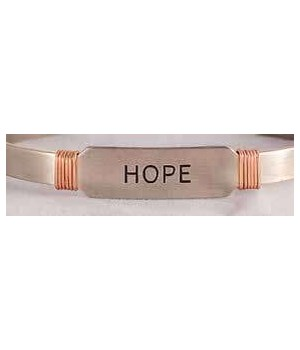 NS HOPE CUFF W/COPPER WIRE GIFT BOXED