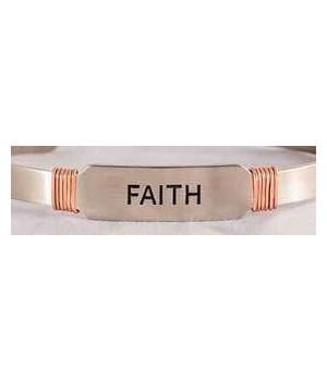 NS FAITH CUFF W/COPPER WIRE GIFT BOXED
