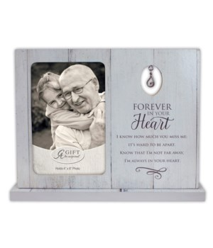 FOREVER IN YOUR HEART STANDING FRAME W/TEAR CHARM BOXED
