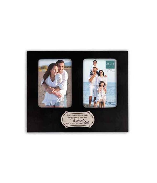 HUSBAND/DAD BLACK DOUBLE FRAME W/EASEL BACK & HANGER BOXED