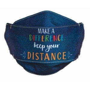 KEEP YOUR DISTANCE FACE MASK INDIVIDUALLY BAG