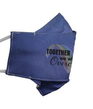 TOGETHER WE WILL OVERCOME FACE MASK INDIVIDUALLY BAG
