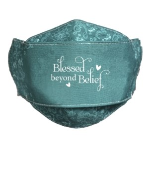 BLESSED BEYOND BELIEF FACE MASK INDIVIDUALLY BAG