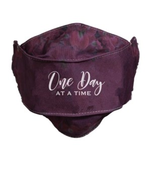ONE DAY AT A TIME FACE MASK INDIVIDUALLY BAG
