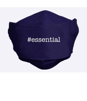 ESSENTIAL NAVY BLUE FACE MASK INDIVIDUALLY BAG