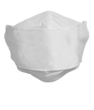 CHILD SIZE WHITE FACE MASK INDIVIDUALLY BAG W/CARD