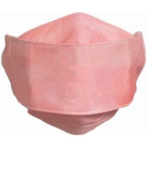 CHILD SIZE PINK FACE MASK INDIVIDUALLY BAG W/CARD