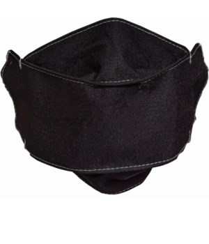 CHILD SIZE BLACK FACE MASK INDIVIDUALLY BAG W/CARD